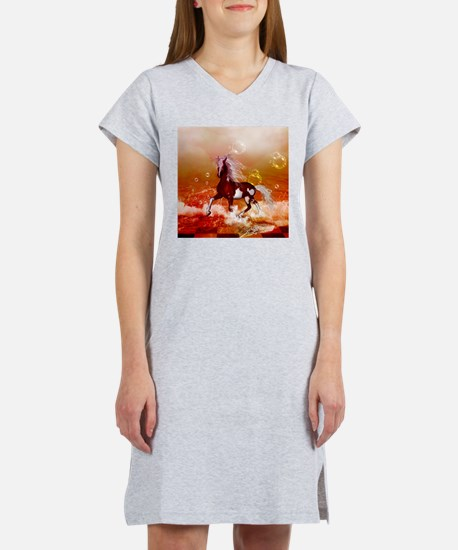 Beautiful horse on the beach in the night T-Shirt