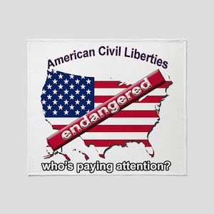 American Civil Liberties Throw Blanket