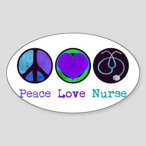 Peace Love Nurse Sticker
