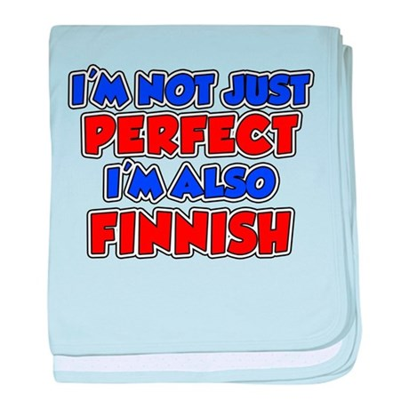 Not Just Perfect Finnish baby blanket
