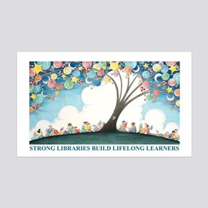Magical Reading Tree 35x21 Wall Decal