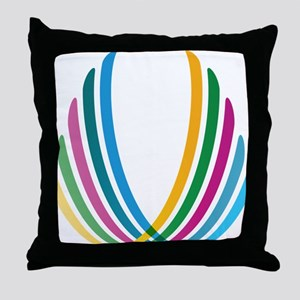 Color Ribbons Throw Pillow