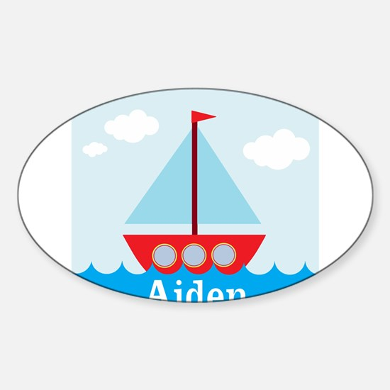 Personalizable Sailboat in the Sea Decal