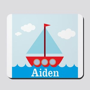 Personalizable Sailboat in the Sea Mousepad