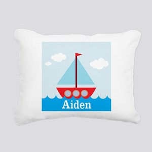 Personalizable Sailboat in the Sea Rectangular Can