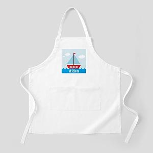 Personalizable Sailboat in the Sea Apron