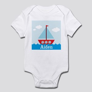 Personalizable Sailboat in the Sea Body Suit