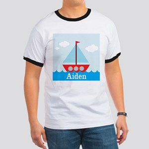 Personalizable Sailboat in the Sea T-Shirt