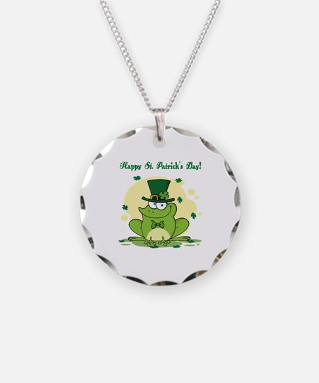 St. Patrick's Day Necklace Circle Charm
