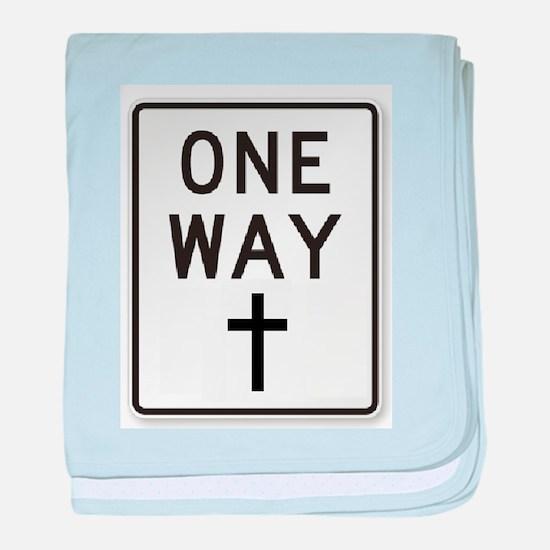 One Way: Jesus baby blanket