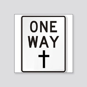 One Way: Jesus Sticker