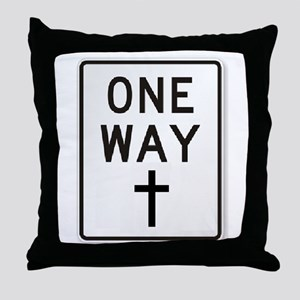 One Way: Jesus Throw Pillow