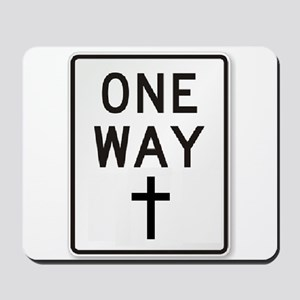One Way: Jesus Mousepad