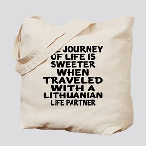 Traveled With Lithuanian Life Partner Tote Bag
