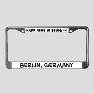 Happiness is Berlin License Plate Frame