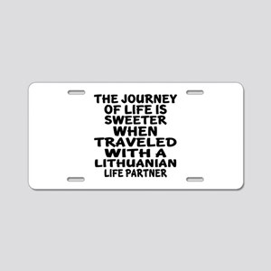 Traveled With Lithuanian Li Aluminum License Plate
