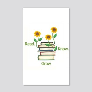 Sun Flowers Books Wall Decal