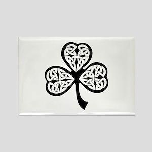 Celtic Shamrock Rectangle Magnet