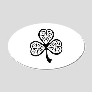 Celtic Shamrock 22x14 Oval Wall Peel