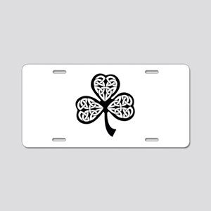 Celtic Shamrock Aluminum License Plate
