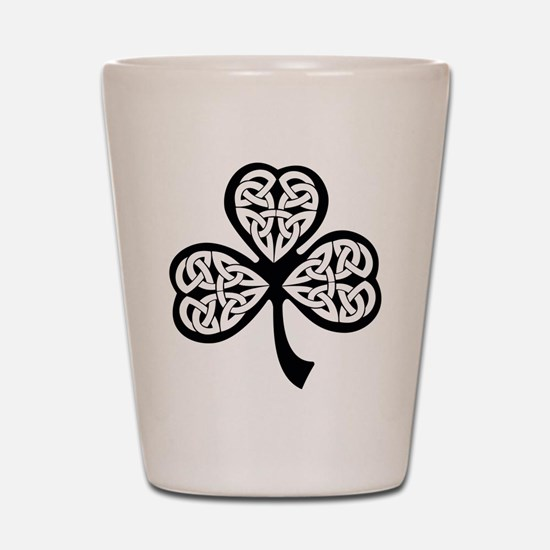 Celtic Shamrock Shot Glass