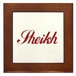 Sheikh name Framed Tile