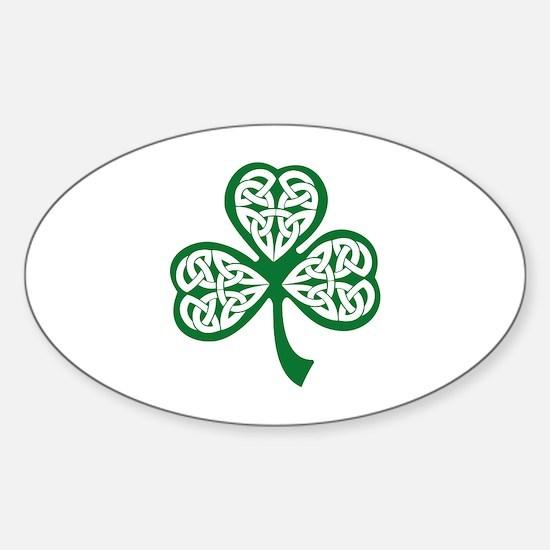 Celtic Shamrock Sticker (Oval)