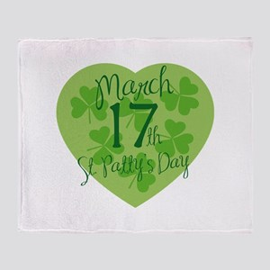 St. Patty's Day Throw Blanket