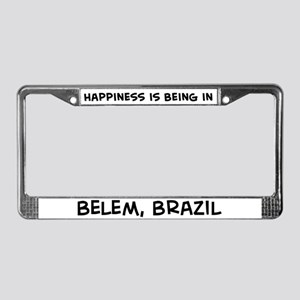 Happiness is Belem License Plate Frame