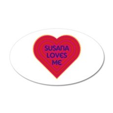 Susana Loves Me Wall Decal