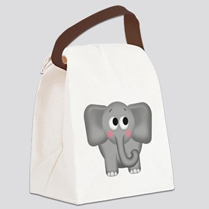Adorable Elephant Canvas Lunch Bag