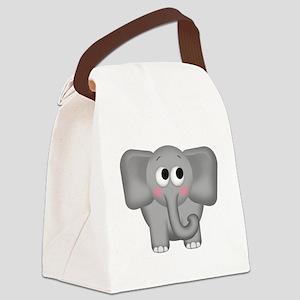 Adorable Elephant Canvas Lunch Bag