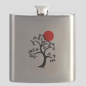 Japanese red sun tree Flask
