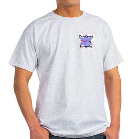 Mom says I'm the favorite (blue) Ash Grey T-Shirt