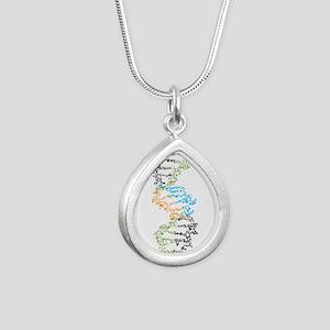 DNA Silver Teardrop Necklace