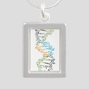 DNA Silver Portrait Necklace
