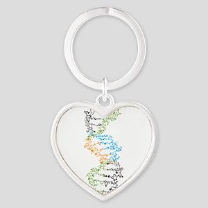 DNA Heart Keychain