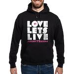Love Lets Live Hoodie (dark)