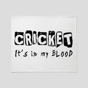 Cricket Designs Throw Blanket