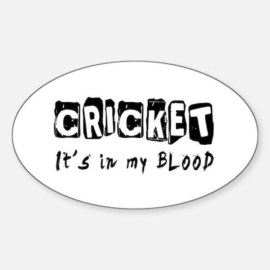 Cricket Designs Sticker (Oval)