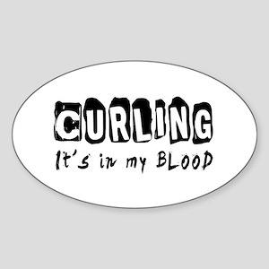 Curling Designs Sticker (Oval)