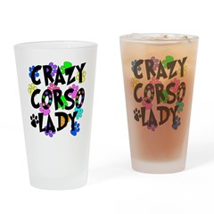 Crazy Corso Lady Drinking Glass
