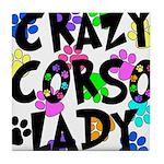 Crazy Corso Lady Tile Coaster