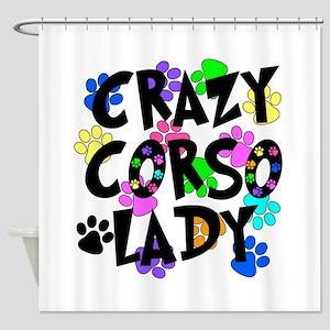 Crazy Corso Lady Shower Curtain