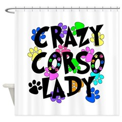 Crazy Corso Lady Shower Curtain