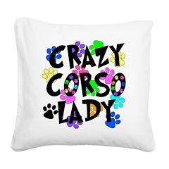 Crazy Corso Lady Square Canvas Pillow