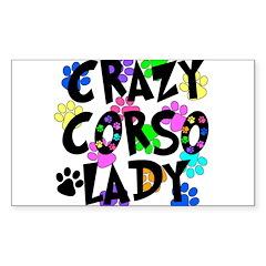 Crazy Corso Lady Sticker (Rectangle)