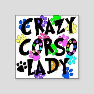 "Crazy Corso Lady Square Sticker 3"" x 3"""
