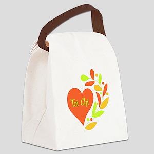 Tai Chi Heart Canvas Lunch Bag