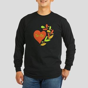 Tai Chi Heart Long Sleeve Dark T-Shirt